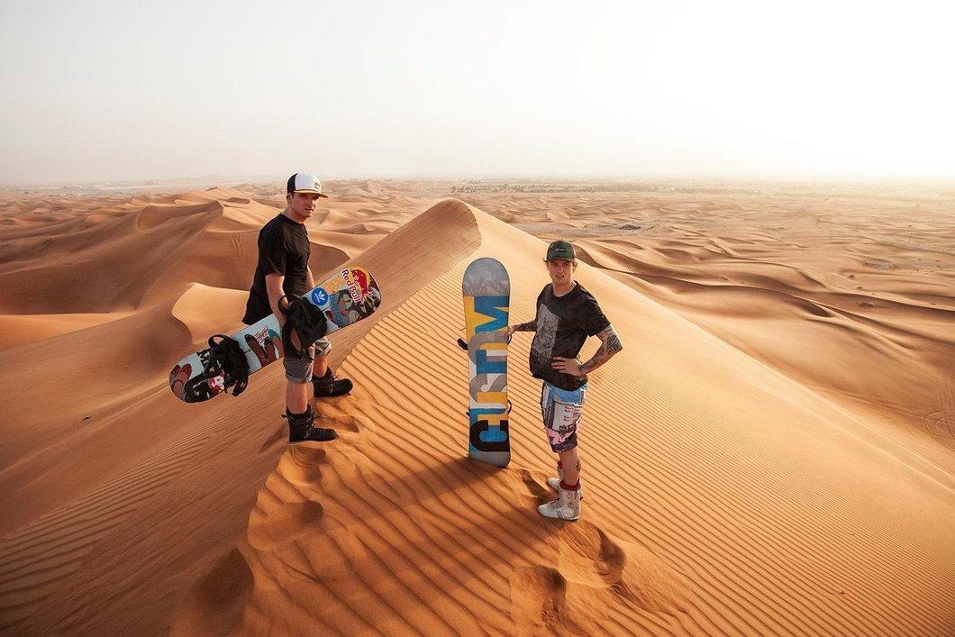 Sand Boarding in the Dubai Desert