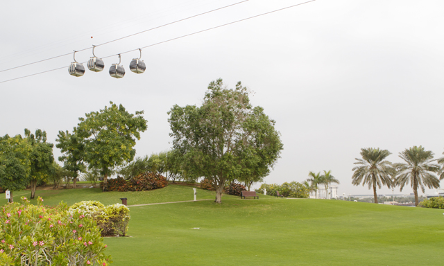 Cable Car in Dubai Creek Park